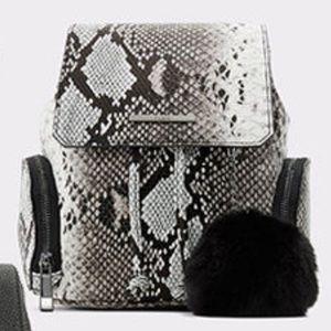 Also snakeskin backpack